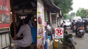 Pedagang Kuliner di Jalan Buahbatu
