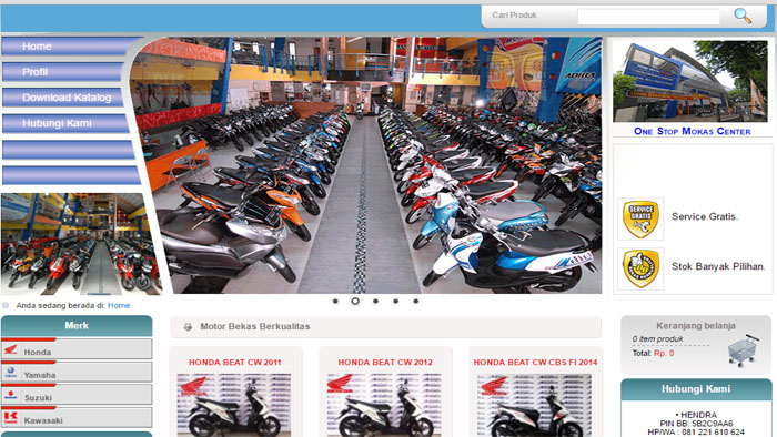 Pusatnya Motor Bekas di Sanjaya Motor Ciateul