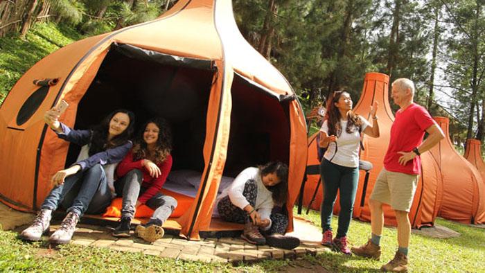 Lodge Maribaya, Kemping di Tengah Pesona Alam Lembang