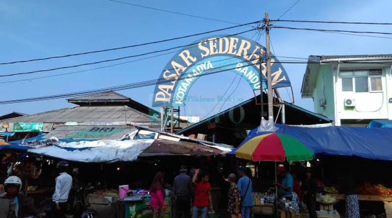 Pasar Sederhana di Sukajadi yang Beberapa Kali Hangus Terbakar