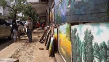 penjual lukisan di Braga