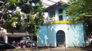 Bekas menara pengawas penjara Banceuy di Jalan ABC Bandung. | Foto serbabandung.com #serbabandung