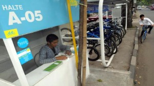 Bike Sharing di Bandung. | Foto bisnis.com