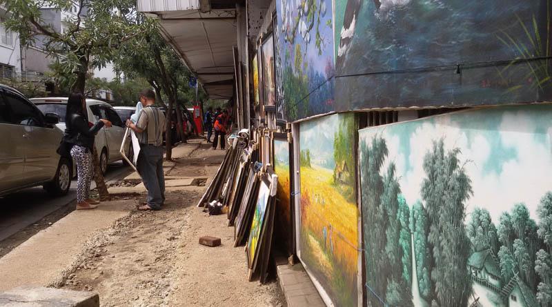 penjual lukisan